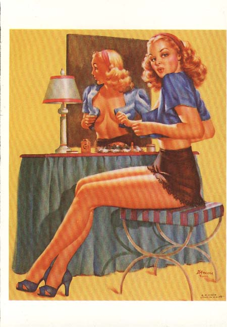 I want to achieve that retro 1940'3 Pulp/pin-up style.